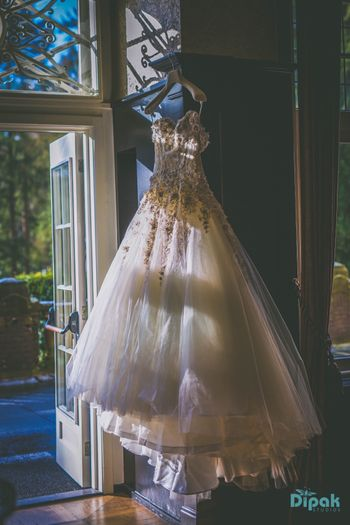 hanging gown shot