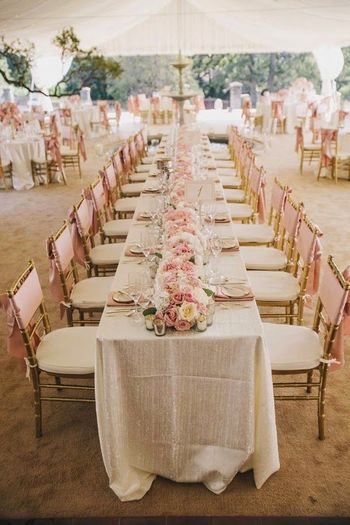 Photo of Elegant pink, gold and white decor