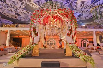 Floral mandap decor
