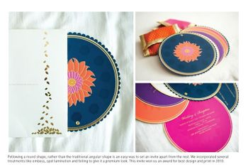 navy and pink card