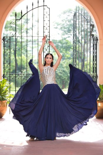 Photo of blue gown