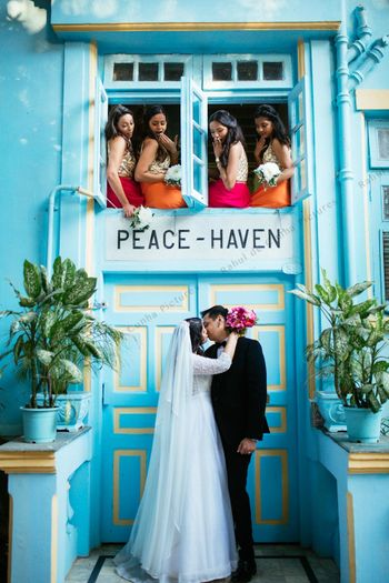Post wedding shoot with bridesmaids
