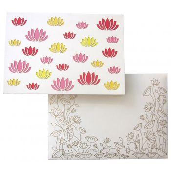 lotus motif cards
