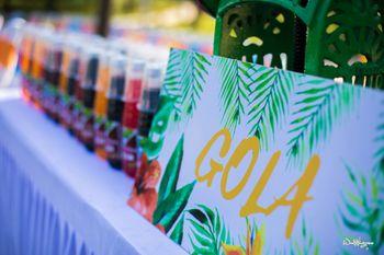 Summer or beach wedding idea with gola stall