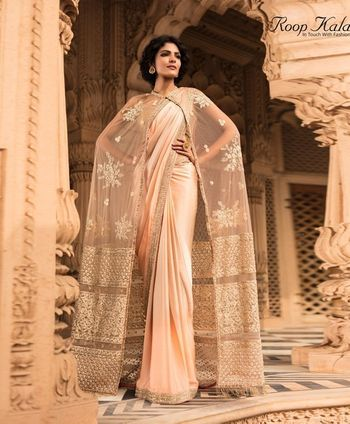 Saree with cape