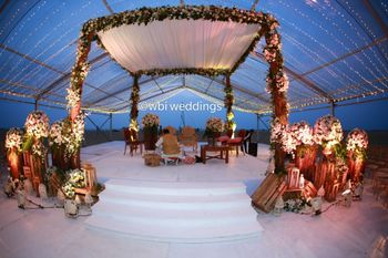 A floral mandap decor