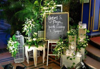 Gorgeous decor for Sangeet with personalised elements