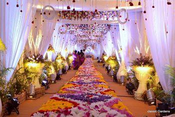 floral entranceway