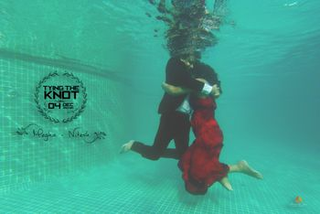 Underwater shoot for save the date card