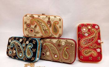 Pretty bridal clutches for Indian wedding