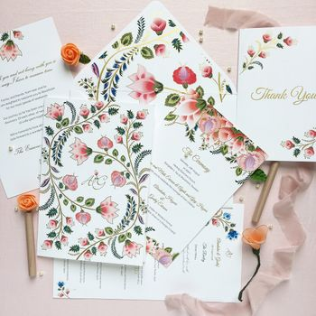 Photo of Pretty floral wedding card invite for wedding