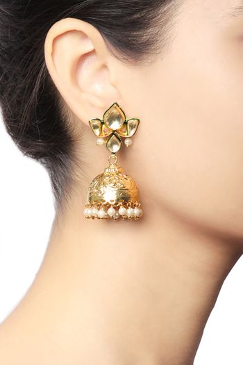 Photo of gold jhumkis