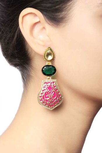 Photo of gold earrings