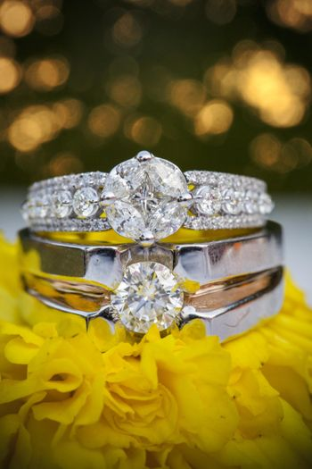 Couple solitaire engagement rings