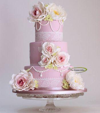 light pink cake