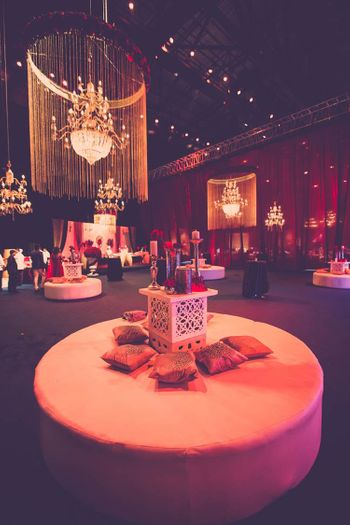 Photo of Dim Light Decor with Floral Chandeliers