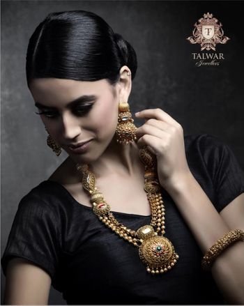 Photo of gold bridal necklace