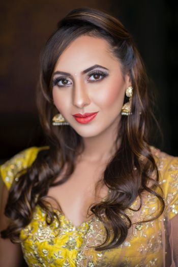 Beautiful matte makeup look for pre wedding function