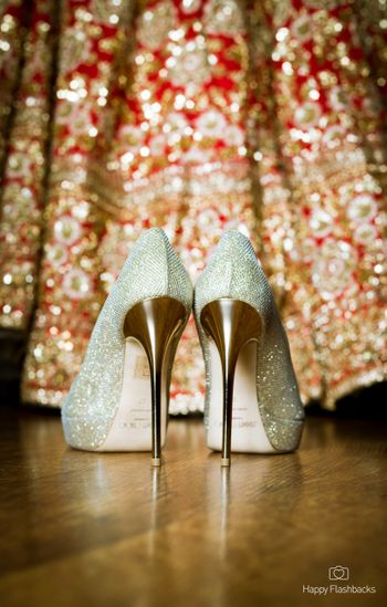 Stunning sparkling wedding shoes