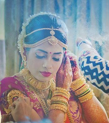 Photo of south indian bride makeup