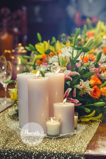 Photo of white candles