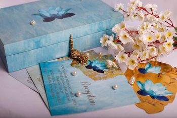 Photo of Turquoise wedding Invitation