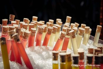 Photo of Shots served in test tubes for cocktail