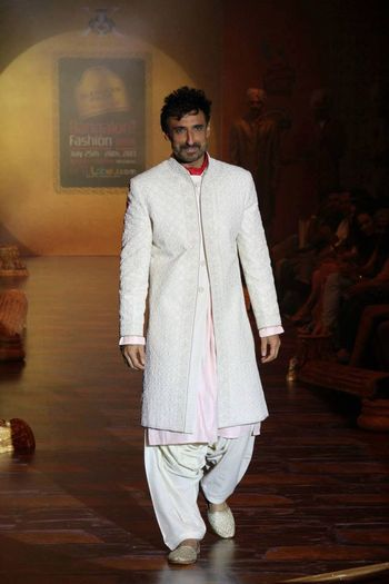 Photo of white sherwani