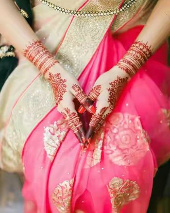 Minimal bridal mehendi design for modern brides