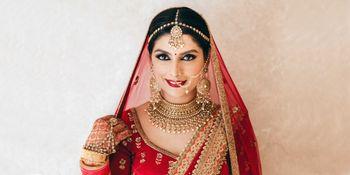 Bridal portrait wearing choker necklace