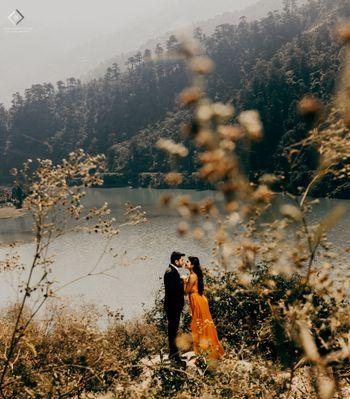 Destination pre wedding shoot in the hills