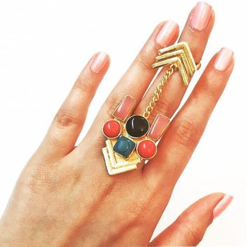 A cocktail ring- statement jewelry.