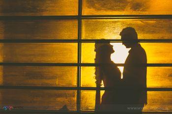 Shadow couple portrait