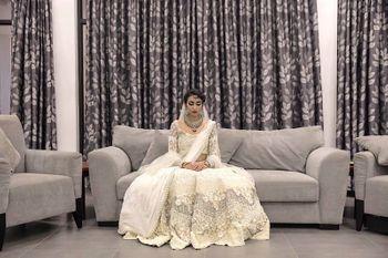 White Bridal Lehenga Photo
