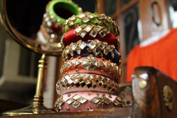 Photo of Pretty colorful gota bangles for mehendi