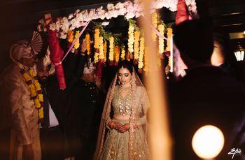 Photo of stunning bridal entry shot