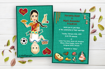 Cute wedding invitation card for the wedding