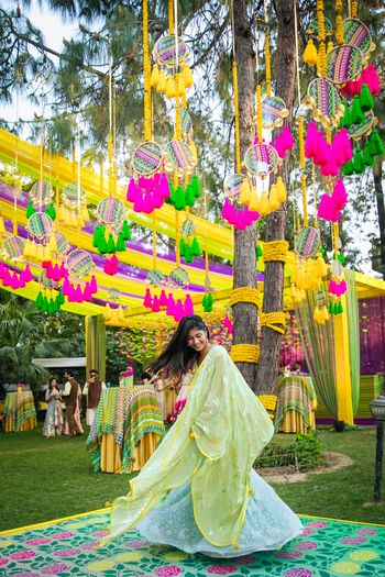 Photo of Bright and vibrant mehendi decor