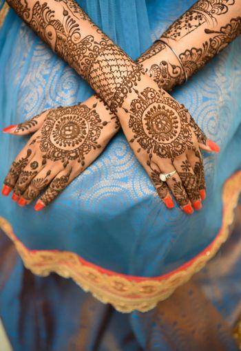Bridal mandala mehendi design