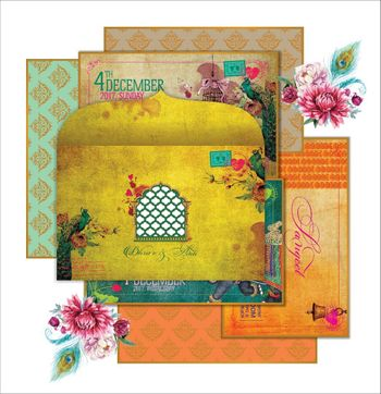 Vibrant wedding invites