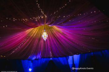 purple tent decor