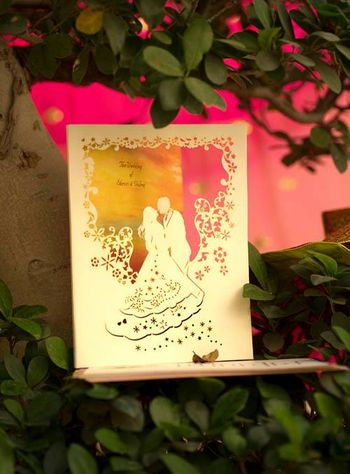 Photo of unique wedding invitation