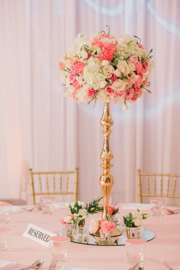 Tall floral table centerpieces
