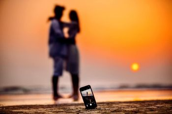 Pre wedding or honeymoon sunset shot