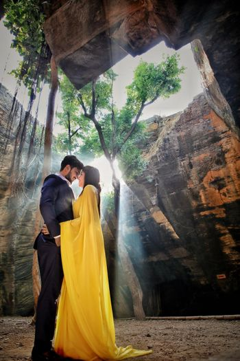 filmy pre wedding shoot in the forest