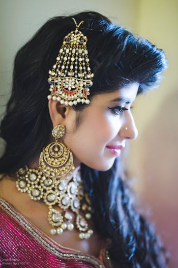 Bridal or mehendi jewellery with jhoomer