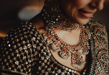 Photo of unique bridal temple jewellery necklace