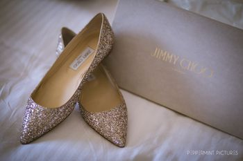 Photo of Gold bridal jimmy choo heels