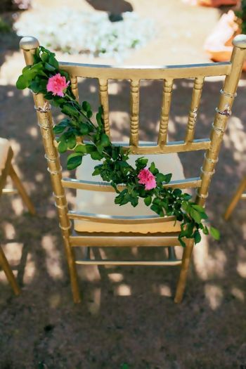 Photo of Simple gold chair decor idea with florals