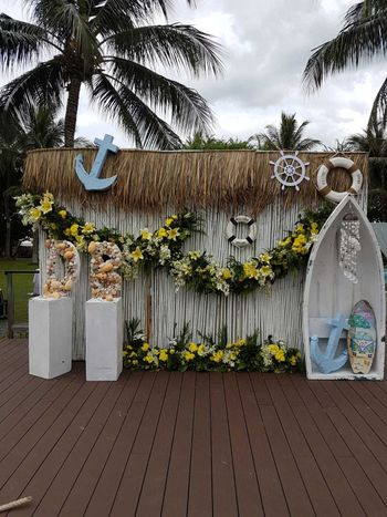 Unique beach wedding photobooth for mehendi